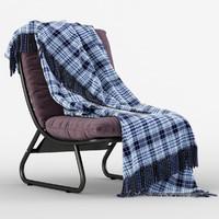 3d model cushy comfort chair