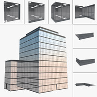free easy building office 3d model