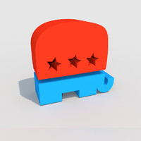 stylized gop elephant 3d 3ds