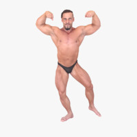 3d bodybuilder fullbody