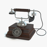 3d old fashioned phone