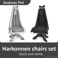 set harkonnen chair 3d model