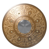3d model shield kazakh