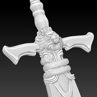 kings sword 3d model