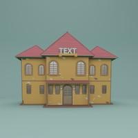 3d obj building