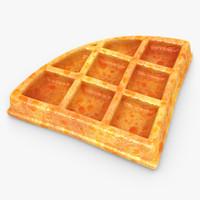 3d model of realistic waffle v2