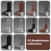 3ds max 10 headstones