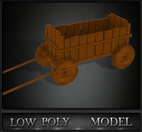 3d model trolley games ready
