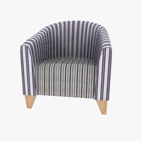 3d model armchair 07