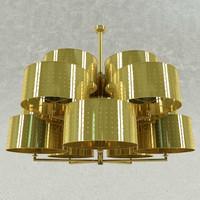 3d model chiaro lamp classic chandelier