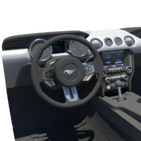 3d dashboard mustang