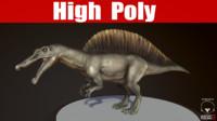 spinosaurus 3d obj