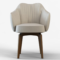 3d model chair giorgetti elisa