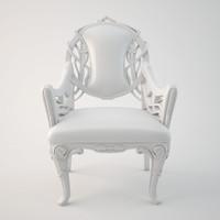 modern art nouveau armchair 3d model