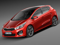kia 5-door ceed 3d 3ds