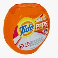 3d model of tide detergent pods