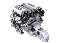 3d bugatti veyron engine v8 model