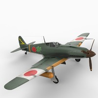 kawasaki ki-61 tony hien 3d model