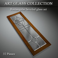 art glass window door 3d 3ds