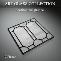 architectural art glass 3d model