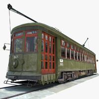3d streetcar new orleans car