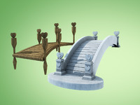 bridge cartoon 3d model
