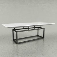 modern table boconcept 3d model