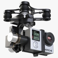 3d gimbal stabilizer gopro 4 model