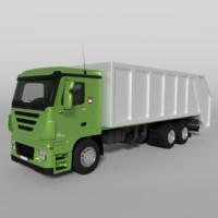 blend garbage truck