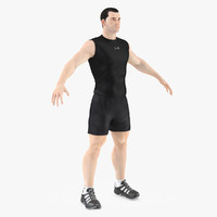 3d model athlete male