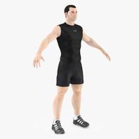 3d model athlete male