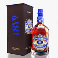 Chivas Regal 18 Packaging and Scane