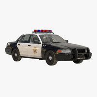 3d generic police car 2