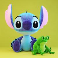stitch frog toys 3d model