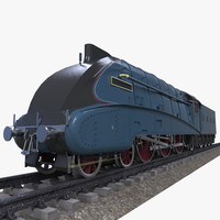 mallard steam train 3d ma