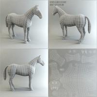base mesh horse ma