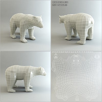 Low Poly Base Mesh Bear