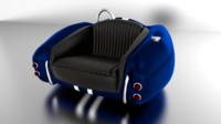 3d cobra sofa car