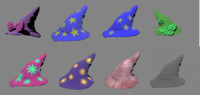 witch hats 3d model