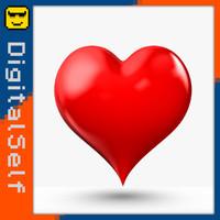 3d model polygons heart
