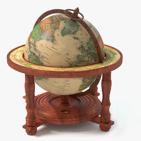 globe world earth 3d obj