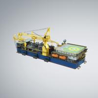 tender rig 3d model