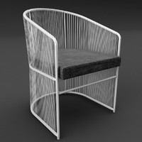 tibidabo varaschin dining outdoor chair 3d max