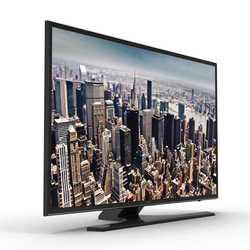 3d model of Samsung 4K UHD JU6500 Series Smart TV 48 inch 01.jpg