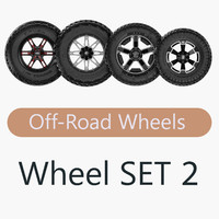 road wheel set 2 3d obj