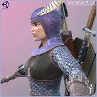 polygonal woman 3d model