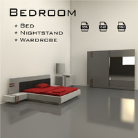 bedroom bed 3d model