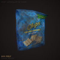 potato chips 3d max