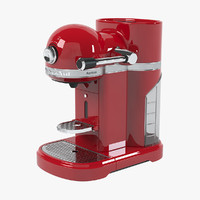 3d nespresso artisan coffee machine model