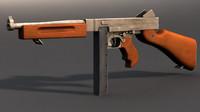 3d model thompson submachinegun